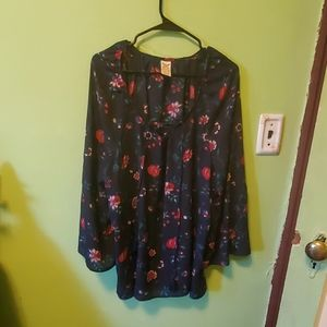 Faded glory plus size tunic floral blue